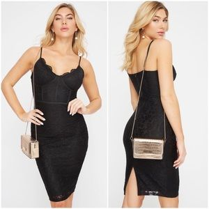 Dresses & Skirts - Black lace bustier dress - small